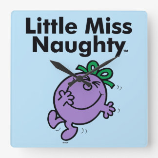 Little Miss | Little Miss Naughty is So Naughty Square Wall Clock