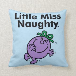 Little Miss | Little Miss Naughty is So Naughty Throw Pillow