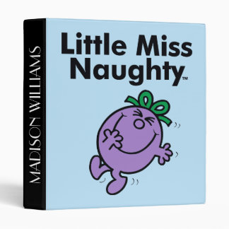 Little Miss | Little Miss Naughty is So Naughty Vinyl Binders