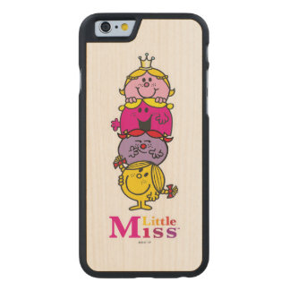 Little Miss | Little Miss Standing Tall Carved Maple iPhone 6 Case