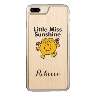 Little Miss | Little Miss Sunshine is a Ray of Sun Carved iPhone 7 Plus Case