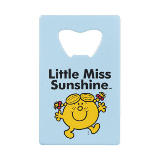 Little Miss | Little Miss Sunshine is a Ray of Sun Credit Card Bottle Opener