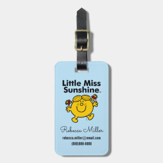 Little Miss | Little Miss Sunshine is a Ray of Sun Luggage Tag