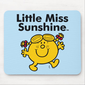 Little Miss | Little Miss Sunshine is a Ray of Sun Mouse Pad