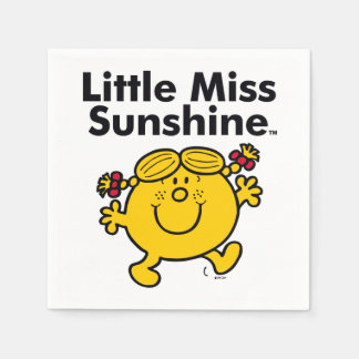 Little Miss | Little Miss Sunshine is a Ray of Sun Paper Napkin