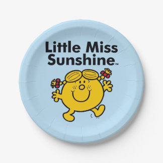 Little Miss | Little Miss Sunshine is a Ray of Sun Paper Plate