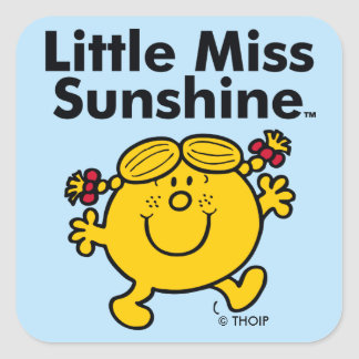 Little Miss | Little Miss Sunshine is a Ray of Sun Square Sticker