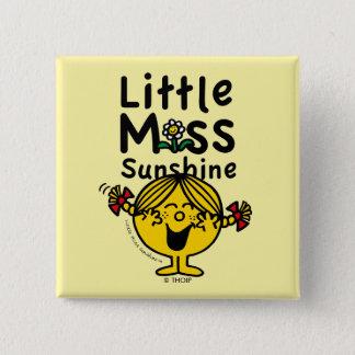 Little Miss   Little Miss Sunshine Laughs 2 Inch Square Button