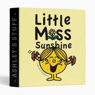 Little Miss | Little Miss Sunshine Laughs 3 Ring Binder