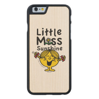 Little Miss | Little Miss Sunshine Laughs Carved Maple iPhone 6 Case