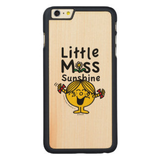 Little Miss | Little Miss Sunshine Laughs Carved Maple iPhone 6 Plus Case