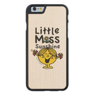 Little Miss   Little Miss Sunshine Laughs Carved® Maple iPhone 6 Slim Case