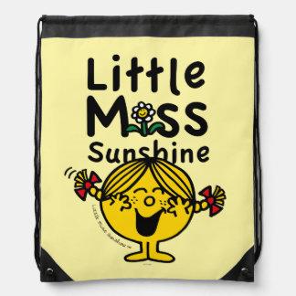 Little Miss   Little Miss Sunshine Laughs Drawstring Bag