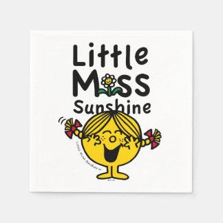 Little Miss   Little Miss Sunshine Laughs Napkin