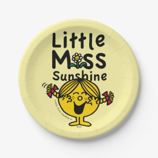 Little Miss | Little Miss Sunshine Laughs Paper Plate