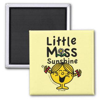 Little Miss | Little Miss Sunshine Laughs Square Magnet