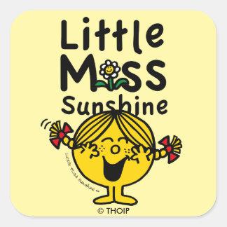 Little Miss | Little Miss Sunshine Laughs Square Sticker
