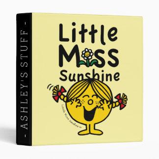 Little Miss | Little Miss Sunshine Laughs Vinyl Binders