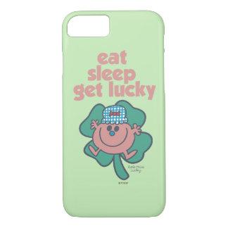 Little Miss Lucky's Motto   Green clover iPhone 7 Case