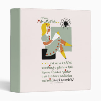 Little Miss Muffet. 1940 reading promotion poster 3 Ring Binders