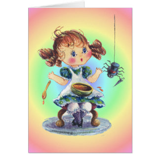 LITTLE MISS MUFFET by SHARON SHARPE Card