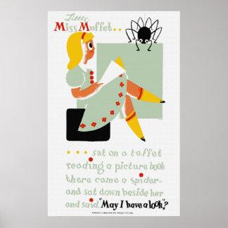 Little Miss Muffet Reading Poster