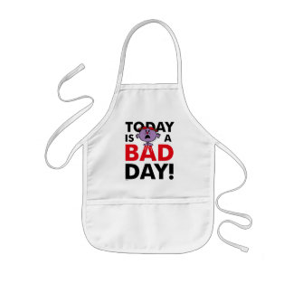 Little Miss Naughty | Today is a Bad Day Kids Apron
