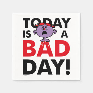 Little Miss Naughty | Today is a Bad Day Paper Napkin