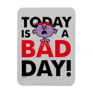 Little Miss Naughty | Today is a Bad Day Rectangular Photo Magnet