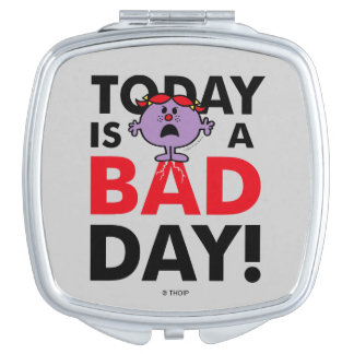 Little Miss Naughty | Today is a Bad Day Travel Mirror