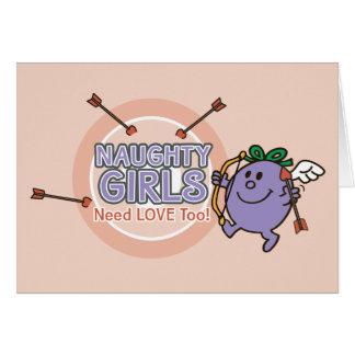 Little Miss Naughty | Valentine Card