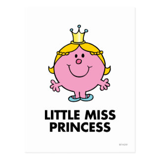 Little Miss Princess | Crown Background Postcard