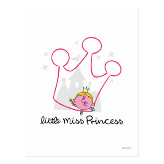 Little Miss Princess | Giant Pink Crown Postcard