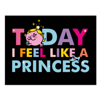 Little Miss Princess | I Feel Like A Princess Postcard