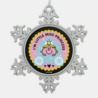 Little Miss Princess | I'm A Princess Snowflake Pewter Christmas Ornament