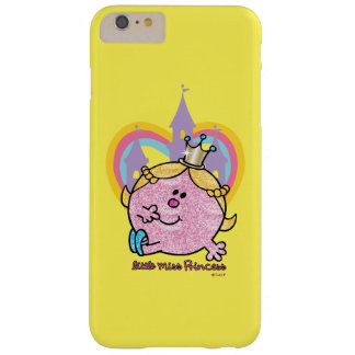 Little Miss Princess Posing With Castle & Heart Barely There iPhone 6 Plus Case