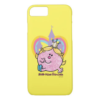 Little Miss Princess Posing With Castle & Heart iPhone 8/7 Case