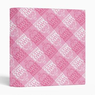 Little Miss Princess | Pretty In Pink Pattern 3 Ring Binder