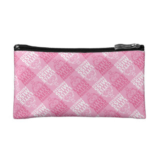 Little Miss Princess | Pretty In Pink Pattern Cosmetic Bag