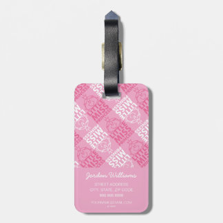 Little Miss Princess | Pretty In Pink Pattern Luggage Tag