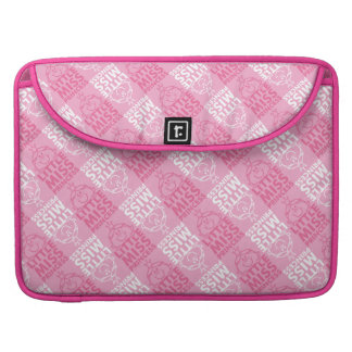 Little Miss Princess   Pretty In Pink Pattern Sleeve For MacBooks