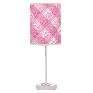 Little Miss Princess | Pretty In Pink Pattern Table Lamp