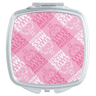 Little Miss Princess | Pretty In Pink Pattern Travel Mirror