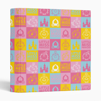Little Miss Princess | Pretty Pastel Pattern 3 Ring Binder
