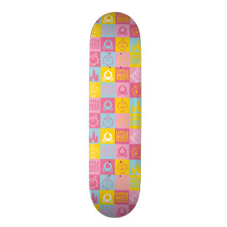 Little Miss Princess | Pretty Pastel Pattern Skateboard Deck