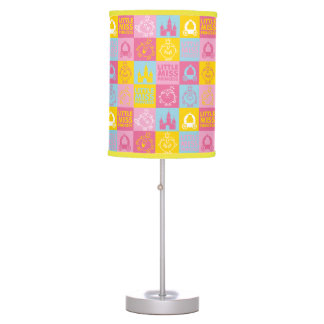 Little Miss Princess | Pretty Pastel Pattern Table Lamp