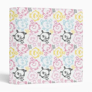 Little Miss Princess | Pretty Pastels Pattern 3 Ring Binder