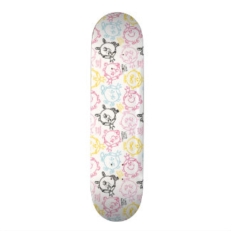Little Miss Princess | Pretty Pastels Pattern Custom Skate Board