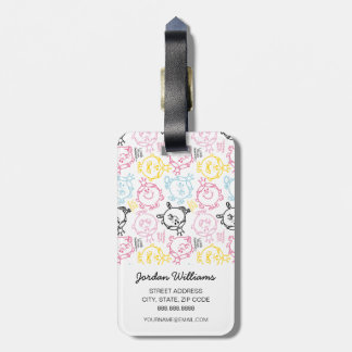 Little Miss Princess | Pretty Pastels Pattern Luggage Tag