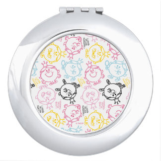 Little Miss Princess | Pretty Pastels Pattern Mirror For Makeup